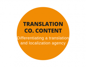 Web content for a translation and localization agency