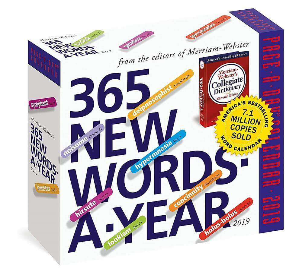 365 New Words a Year Calendar