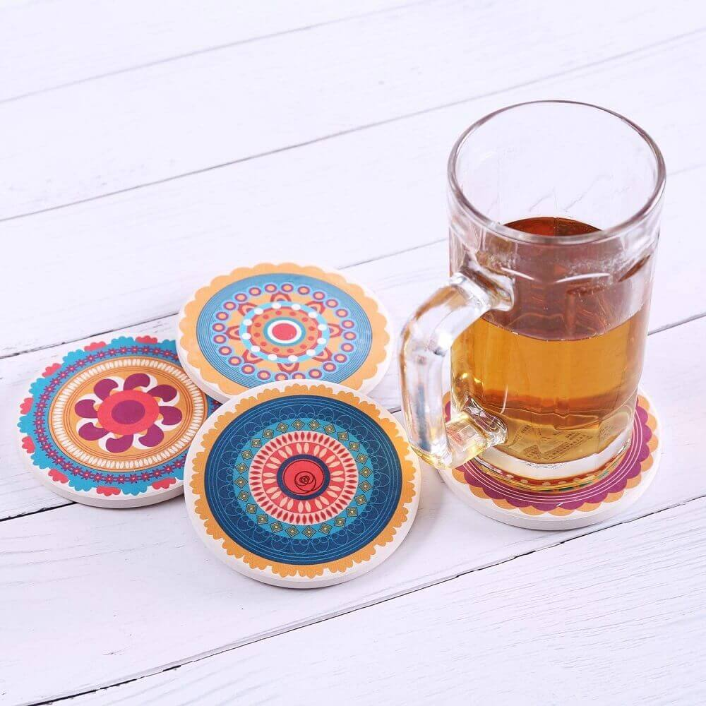 Colorful Stone Coaster Set