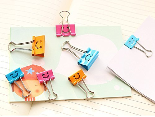 Smiling Paper Binder Clips