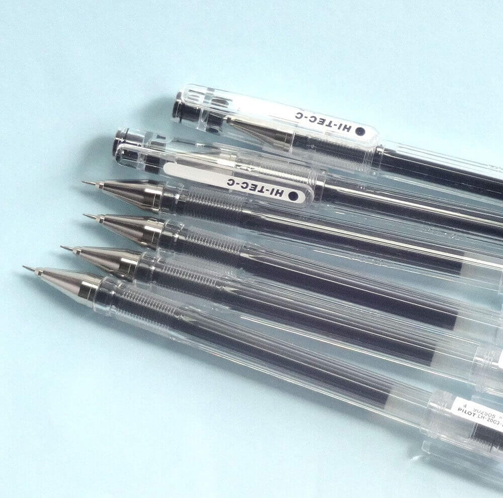 Pilot Hi-Tec-C 03 Gel Ball Point Pens, 0.3mm, Extra Fine