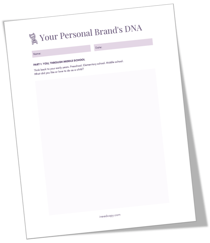Your Personal Brand's DNA Workbook