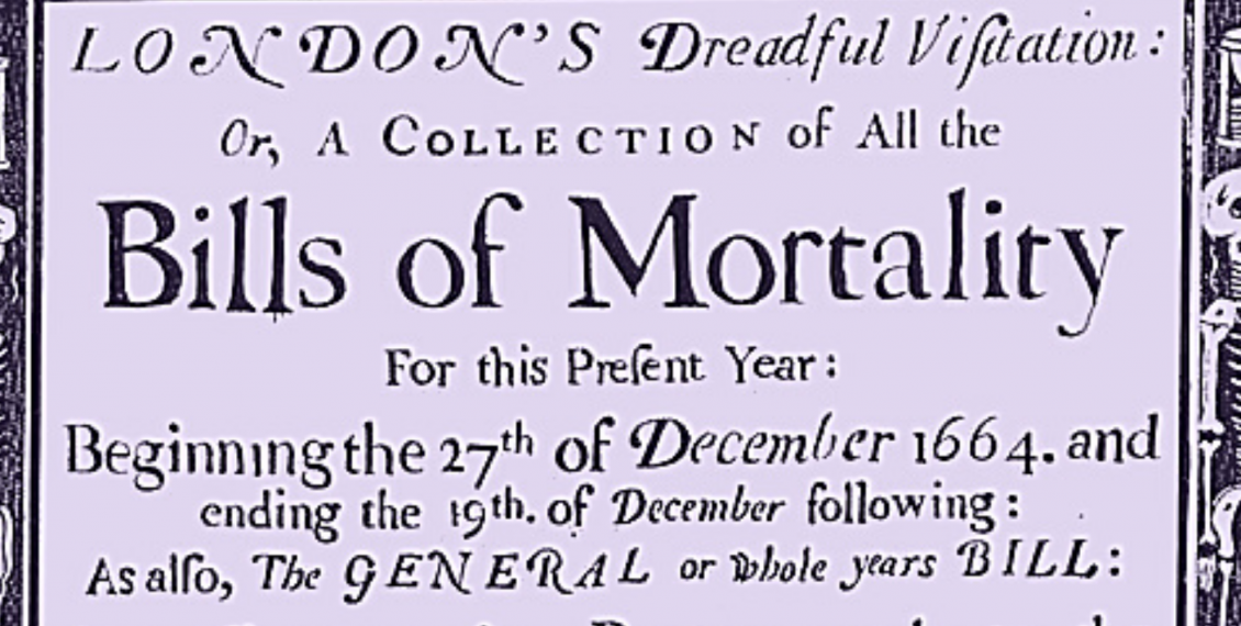 Photo: 'Bills of mortality' were regularly posted.Photo 12/Universal Images Group via Getty Image